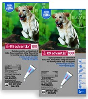 12 MONTH K9 ADVANTIX Blue (For dogs over 55lbs)