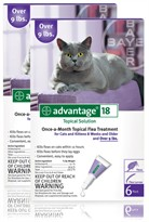 12 MONTH Advantage Purple for cats over 9lbs.