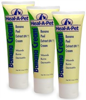 3 PACK Heal A Pet Banana Cream (12 oz.)