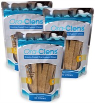 3 PACK Ora-Clens Oral Hygiene Chews SMALL (90 Chews)