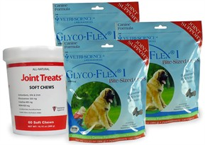 3 PACK Glyco Flex I (360 SOFT CHEWS) FREE Joint Treats