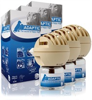 3 PACK ADAPTIL (D.A.P.) Dog Appeasing Pheromone Electric Diffuser (144 ml)