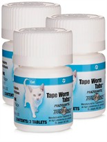 Tape Worm Tabs for Cats 3-PACK (9 tablets)