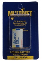 Multivet 3-volt Lithium Battery