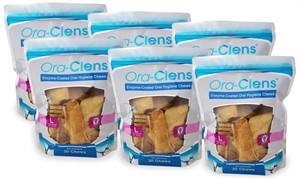 6 PACK Ora-Clens Oral Hygiene Chews LARGE (180 Chews)