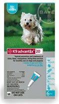 6 MONTH K9 ADVANTIX Teal (for dogs 11-20lbs)
