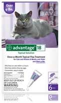 6 MONTH Advantage Purple for cats over 9 lbs