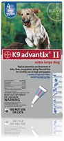 K9 ADVANTIX II 4 MONTH Extra Large Dog (for dogs over 55 lbs)