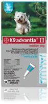 K9 ADVANTIX II 4 MONTH Medium Dog (for dogs 11-20 lbs)