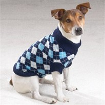 Casual Canine Argyle Turtleneck Sweater (Medium)