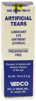 Artificial Tears Ointment (1/8 oz)