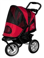 AT3 All Terrain Pet Stroller by Pet Gear (RED)