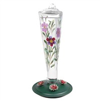 Avant Garden Violet Meadow Hummingbird Feeder (8 oz capacity)