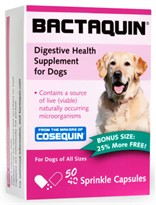 Bactaquin Digestive Health Supplement for Dogs - 50 Sprinkle Capsules