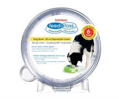 6 PACK Feed + Toss Dog Bowl Disposable Liner for DOGS - 30 oz