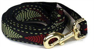 Premier 1 in x 6 ft Leash - RED & GREEN