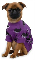 Zack & Zoey Halloween Bat Tee Purple - XS (10&quot;)