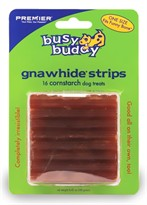 Premier Busy Buddy Gnawhide Constarch Strips One Size - (16 treats)