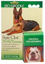 Bio-Groom Sure Clot Fast Acting Styptic Powder (1/2 oz)