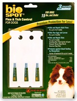 Bio Spot for SMALL Dogs under 15 lbs (3 month supply)