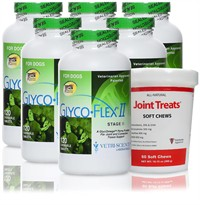 Glyco Flex II 6-PACK (720 Tablets) + FREE Joint Treats!