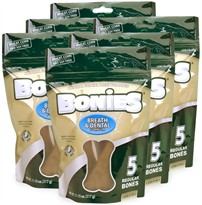 BONIES Natural Dental Bones Multi-Pack REGULAR 6-PACK (30 Bones)