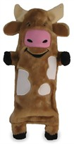 Kyjen Plush Puppies Water Bottle Buddies Cow Toy