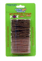 Bouncy Bones Gnawhide Strip Rings Refills - MED/LG & LARGE