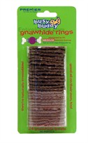 Bouncy Bones Gnawhide Strip Rings Refills - Medium