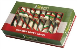 Be Good Holiday Rawhide Candy Canes (12-PACK)