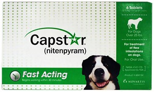 CAPSTAR Green for Dogs over 25 lbs(6 tablets)
