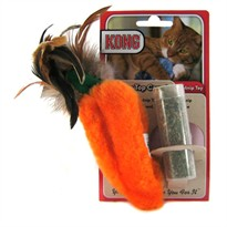 Kong Feather Top Carrot Catnip Toy (Orange)
