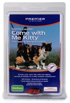 Come with Me Kitty Harness & Bungee Leash - MEDIUM / RED
