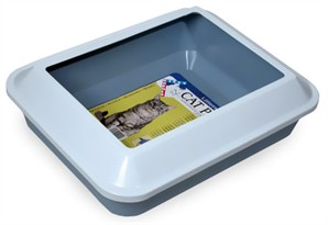 Catit Littershield Cat Pan- Blue (Large)