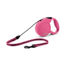 Flexi Classic All Belt 3 Leashes for Dogs up to 110 lbs (Pink-Rose)