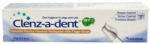 Clenz A Dent  Toothpaste w/ Finger Brush - Poultry (70 gm)