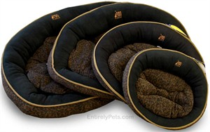 Black Faux Jag Cloud Bed