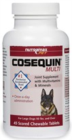 COSEQUIN MULTI Once-A-Day Supplement for  Dogs 50 lbs. and over - 45 Chewable Tablets