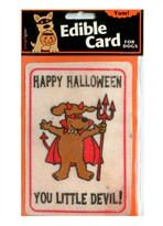 "Crunch Card ""Happy Halloween-Little Devil"" for DOGS"