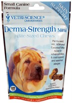 Vetri-Science Derma-Strength Mini Bite Size Chews for Small Dogs (30 ct)