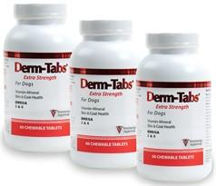 3 PACK - Derm-Tabs ES Extra Strength for DOGS (180 Tabs)