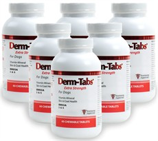 6 PACK - Derm-Tabs ES Extra Strength for DOGS (360 Tabs)