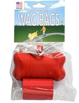 Wag Bags Dispenser Bone RED (30 Bags)