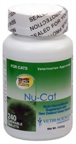 Economy Size Nu-Cat by Vetri-Science (240 tablets)