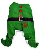 Dogit Christmas Elf PJs - Large