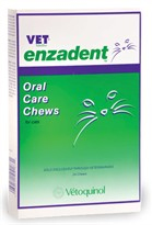 Vet Solutions Enzadent Oral Care Chews for Cats Fish Flavor (24 count)