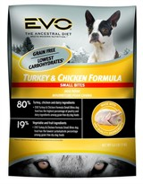 EVO Turkey & Chicken Formula Small Bites Dry Dog Food (6.6 lb)