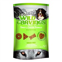 EVO Wild Cravings Turkey & Chicken Formula Dog Treats (20 oz)