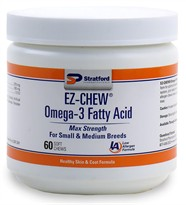 EZ-CHEW Omega-3 Fatty Acid for Small & Medium Breeds (60 Soft Chews)