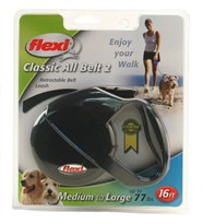 Flexi Classic All-Belt 2 Retractable BELT Leash for Dogs (16 ft)